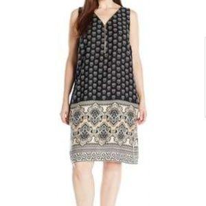 MSK size large sleeveless shift cotton dress
